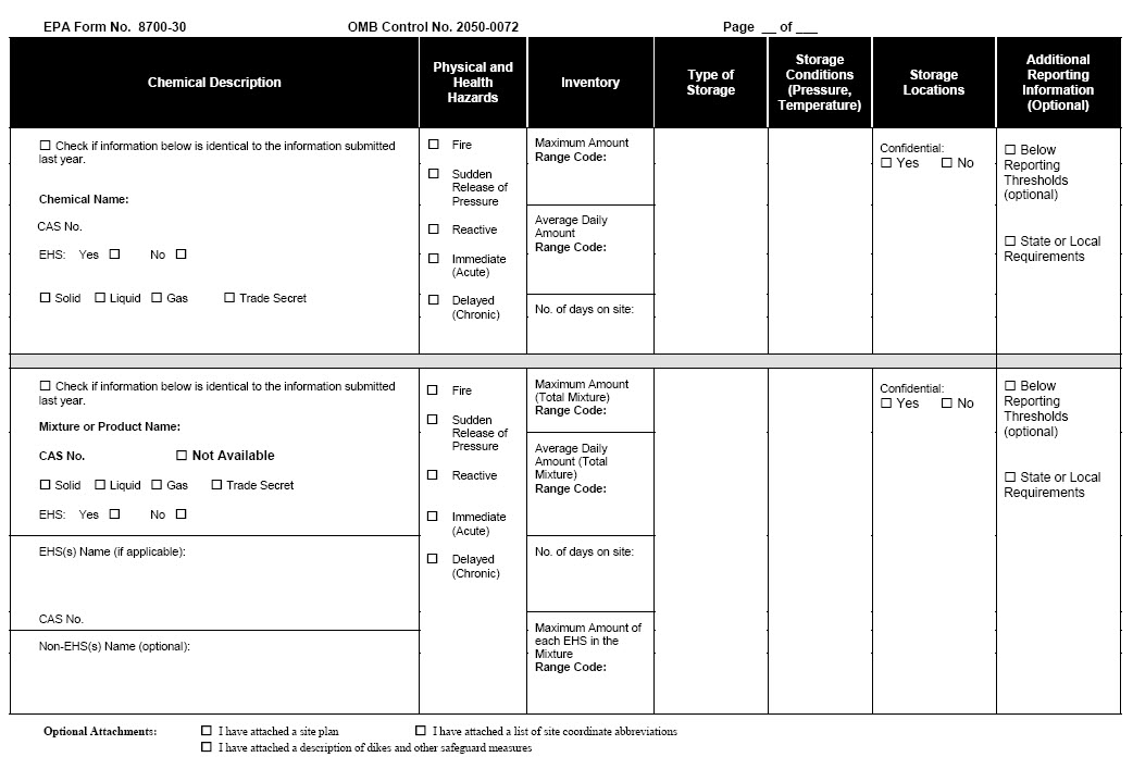 Tier two emergency and hazardous chemical inventory form – Now Is ...